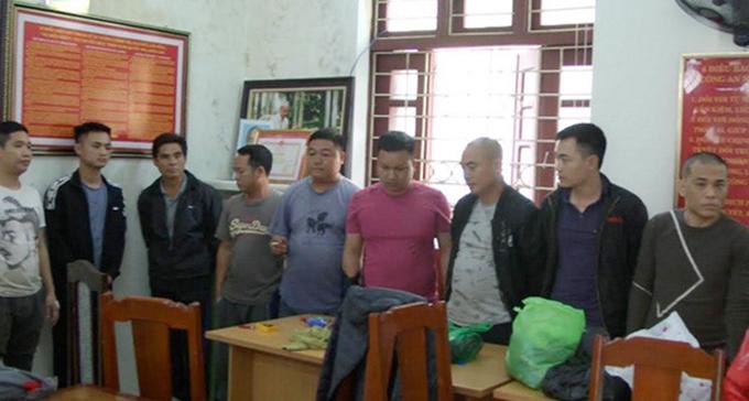 Hàng chục con bạc bị bắt giữ sau chuyên án.