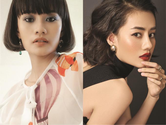Sự khác biệt trước (trái) và sau nâng mũi tại Viện thẩm mỹTuấn Linh của người mẫu Kim Chi.