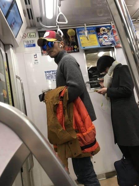 Cặp Phong - Phi đi Nhật hồi đầu năm.
