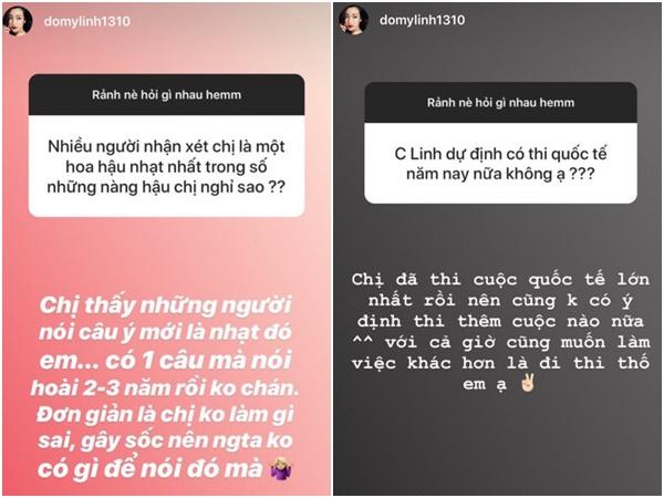 Mỹ Linh trả lời câu hỏi của fan.
