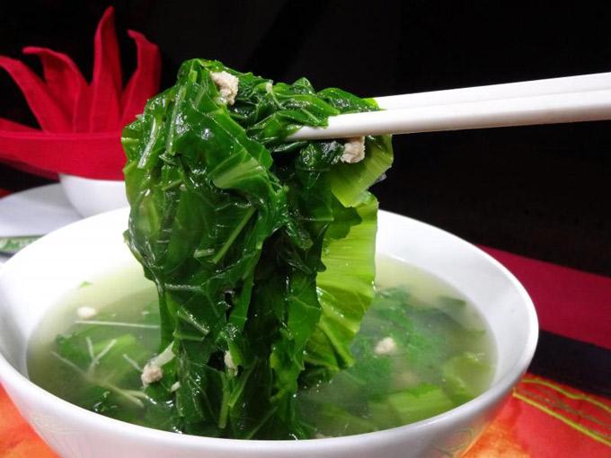 Tất cả các loại rau cải đều có tác dụng chống ung thư. Cải bẹ xanh: 32,4%  15. Cải canh: 29,8%