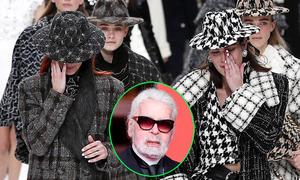 Show Chanel cuối cùng của Karl Lagerfeld ngập trong nước mắt