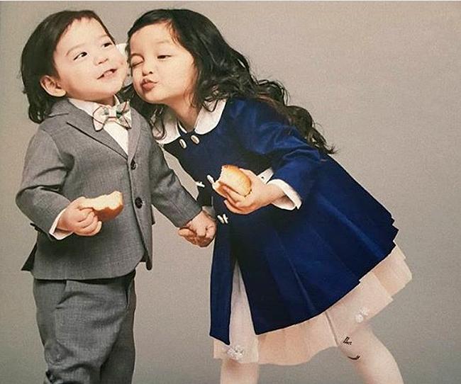 Nét đáng yêu của cặp búp bê lai nhí xứ Hàn - 3