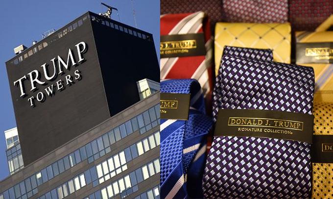 Sức mạnh của thương hiệu Trump suy giảm tại một số thị trường như Toronto (Canada) và New York, giảm trị giá khoảng 3 triệu USD.