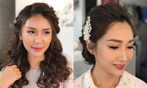 Những kiểu tóc đẹp cho cô dâu xuân hè