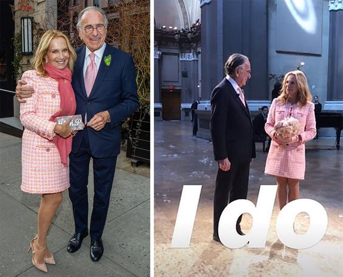 Tỷ phú Harry và bà Patricia trong đám cưới hôm 7/3. Ảnh: Instagram.