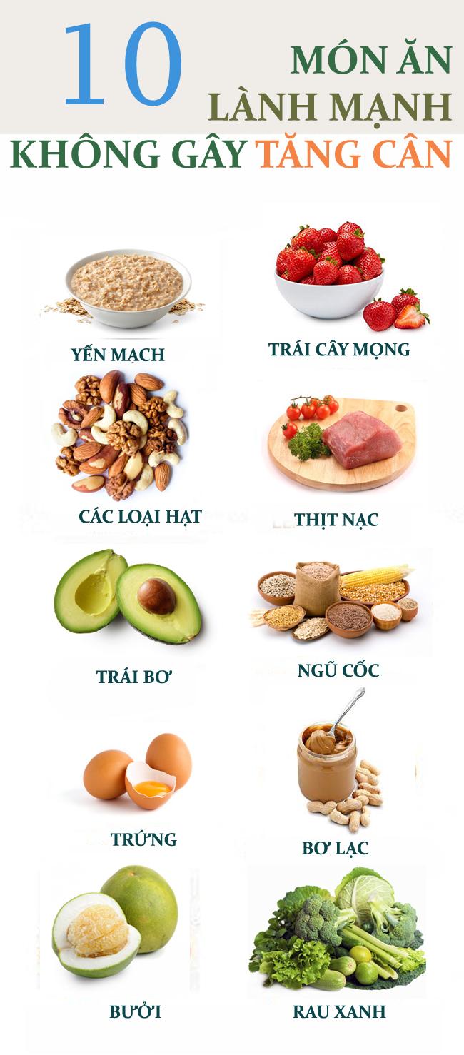10 loại thực phẩm ăn lai rai cả ngày mà không lo béo