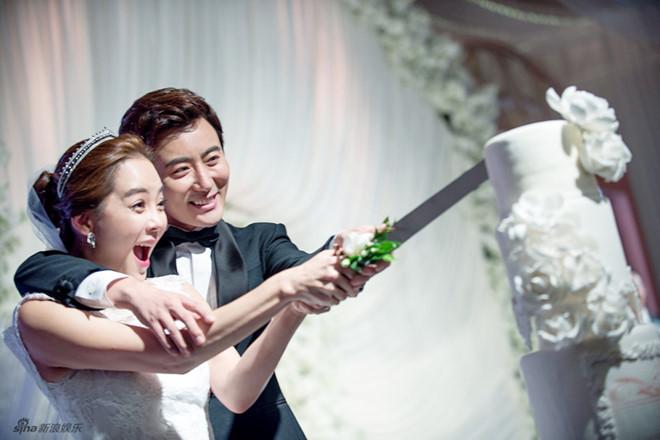 Chae Rim và Cao Tử Kỳ kết hôn năm 2014.