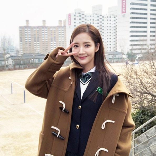 Park Min Young trong tạo hình nữ sinh.