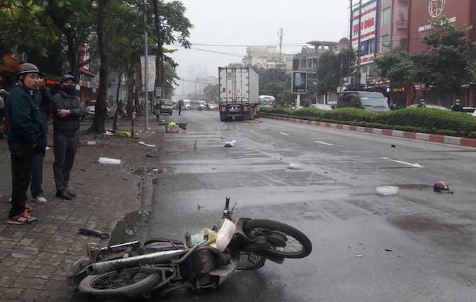 Xe máy của nạn nhân.