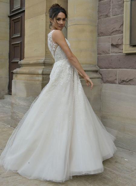 Meghan làm cô dâu trong tập cuối bộ phim Suits của Mỹ. Ảnh: Publicity Picture.