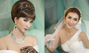Kim Tuyến hóa cô dâu với makeup xanh ngọc thạch 'đón trend'