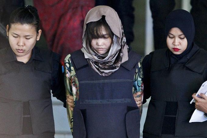 Đoàn Thị Hương hiện là nghi phạm duy nhất trong vụ sát hại ông Kim Jong-nam. Ảnh: AP.