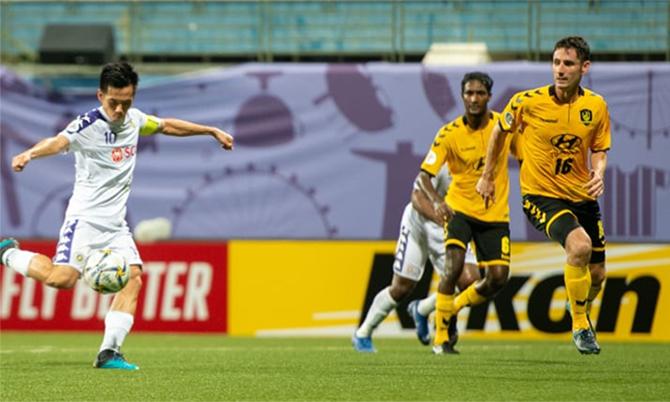 Văn Quyết và đồng đội không thể có chiến thắng thứ hai liên tiếp tại AFC Cup. Ảnh: AFC.