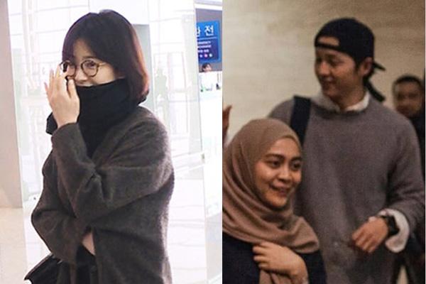 Song Hye Kyo và Song Joong Ki cùng không đeo nhẫn cưới.