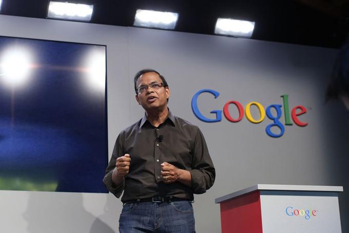 Ông Amit Singhal khi còn làm việc tại Google. Ảnh: Reuters.