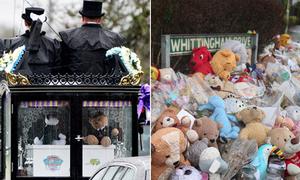Đám tang ngập gấu bông của 4 anh em thiệt mạng vì hỏa hoạn