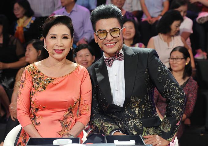 Nghệ sĩ Kim Xuân và MC Thanh Bạch làm khách mời của show Ký ức vui vẻ.