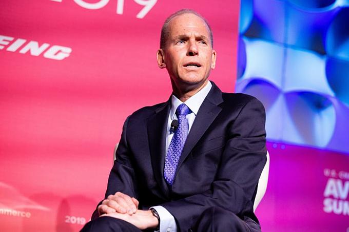 Giám đốc điều hành Boeing - Dennis Muilenburg. Ảnh:Bloomberg.