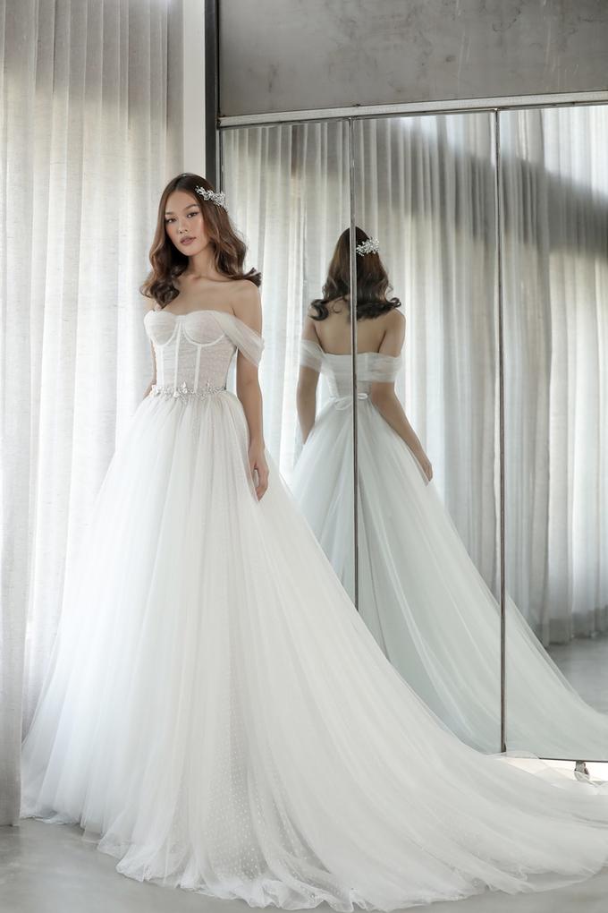 Váy cưới giúp cô dâu khoe vẻ đài các