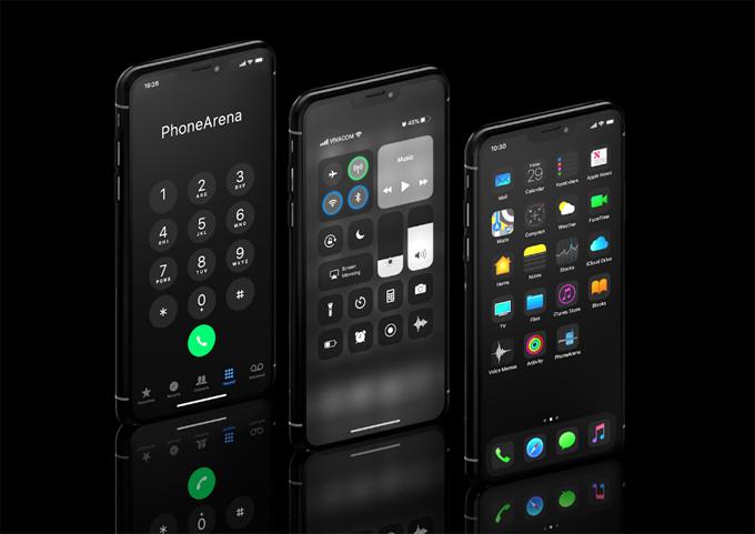 Trang Phonearena giới thiệu ý tưởng về chế độ Dark Mode, thay đổi về cách thiết kế biểu tượng ứng dụng cũng như nền của ứng dụng màuđen.