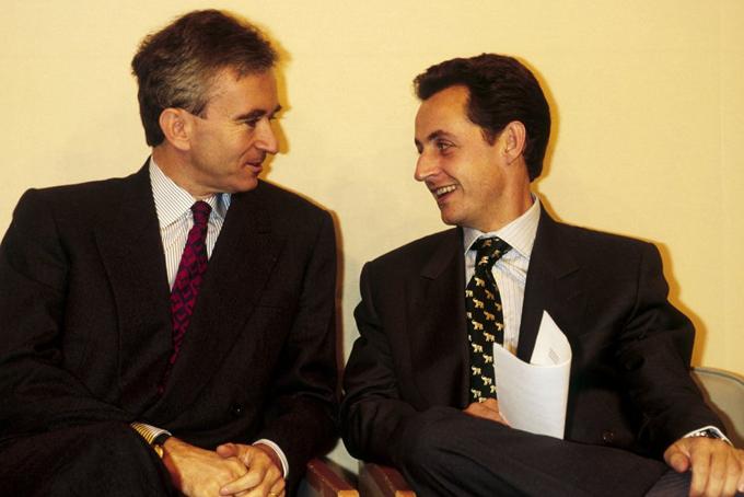 iArnault được cho là bạn thâm lâu năm với cựu tổng thống Pháp Nicolas Sarkozy.