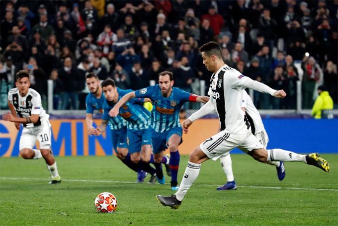Một mình ghi cả ba bàn thắng đưa Juventus lội ngược dòng trước đối thủ khó chịu Atletico Madrid để vào tứ kết Champions League
