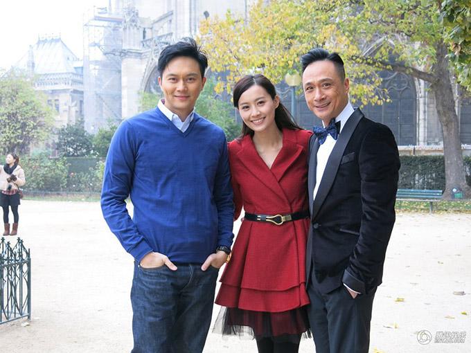 Bao la vùng trời 2 là phim TVB cuối cùng Trần Pháp Lai tham gia. Cô đóng chung với Trương Trí Lâm (trái) và Ngô Trấn Vũ (phải)