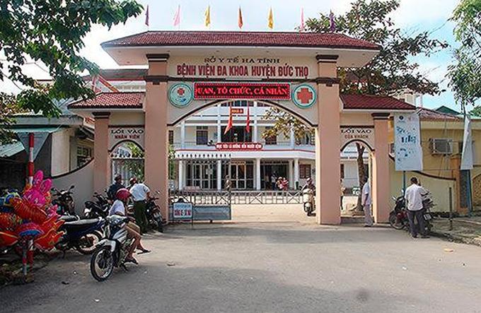 Bệnh viện Đa khoa huyện Đức Thọ, nơi ông Lý công tác. Ảnh: H.L