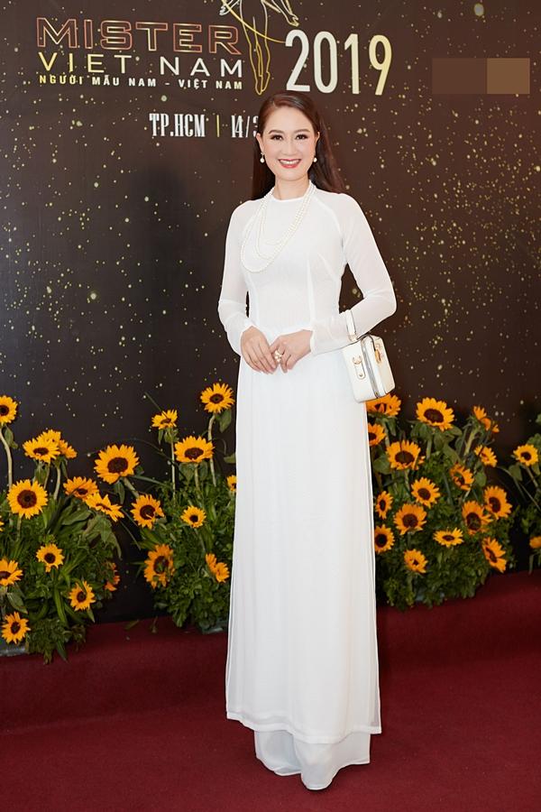 Hoa hậu Đàm Lưu Ly khoe nhan sắc tuổi 46 ở sự kiện