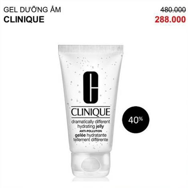 Gel dưỡng ẩm từ Clinique - thương hiệu mỹ phẩm nổi tiếng của Mỹ giảm còn 288.000 đồng, giúp chị em chăm sóc da.