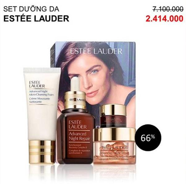 Set dưỡng da Estée Lauder giảm còn 2,4 triệu đồng.