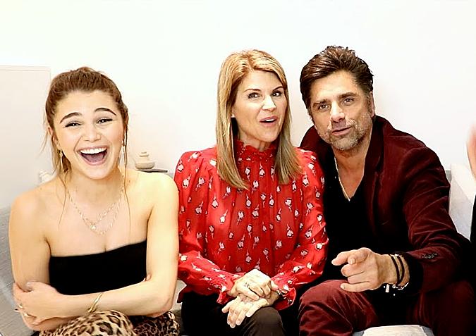 Khi Olivia dạy mẹ và bạn diễn Full House,John Stamos, nói tiếng lóng cuối năm ngoái, cô thu hút hơn 3 triệu lượt xem trên YouTube. Ảnh cắt từ YouTube Olivia Jade.