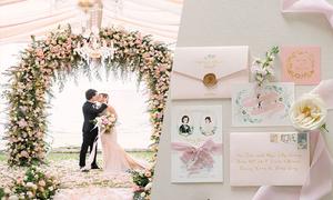 Đám cưới tông hồng mộng mơ bên biển Phuket