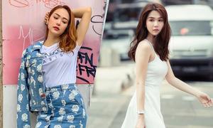 Style dạo phố mùa nắng của sao Việt