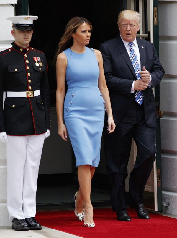 Sự lựa chọn trang phục của Melania trong lễ tiếp đón vợ chồng Tổng thống Panama ở Nhà Trắng một lần nữa khiến bà trở thành tâm điểm bàn luận.