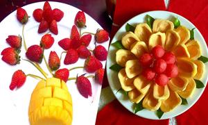 Những đĩa trái cây 'nở hoa' của bà mẹ TP HCM