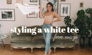 5 cách mix một chiếc áo thun trắng trẻ trung