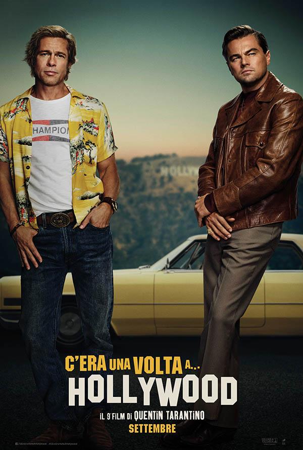 Brad Pitt (trái) và Leonardo DiCaprio trên poster đầu tiên của phim.