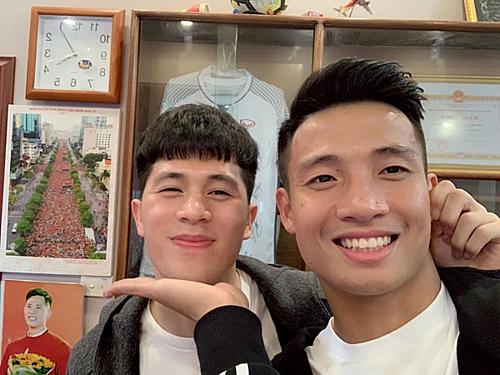 Tiến Dũng - Đình Trọng được fan tích cực ghép đôi trên mạng xã hội.