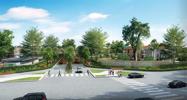 Toàn cảnh khu đô thị Gamuda Gardens.