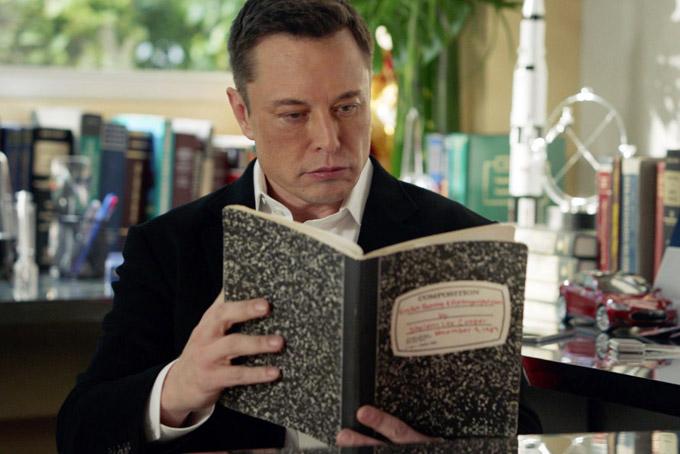 Elon Musk đọc nhiều sách khoa học viễn tưởng. Ảnh: The Tech news.