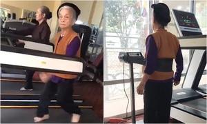 Cụ bà 84 tuổi vẫn tích cực tập gym mỗi ngày