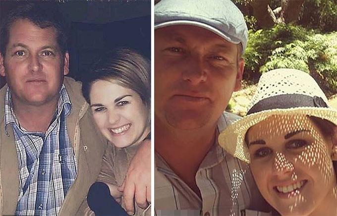 Charl Viljoen và vợ, Natasha Niljoen và vợ mặn nồng trước khi mâu thuẫn ở bữa tiệc tại Matsieng. Ảnh: Facebook.