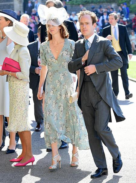 Tom Skippy Inskip và vợ đến dự đám cưới Harry hồi tháng 5 năm ngoái ở Lâu đài Windsor. Ảnh: Rex.
