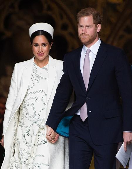 Vợ chồng Harry - Meghan trong sự kiện của Khối Thịnh vương Chung hồi đầu tháng này. Ảnh: Wire Image.