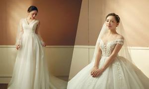 Quỳnh Kool diện váy cưới lấy ý tưởng từ giọt sương trên cánh hoa xuân