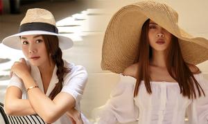 Sao Việt lăng xê mũ nan đầu mùa nắng