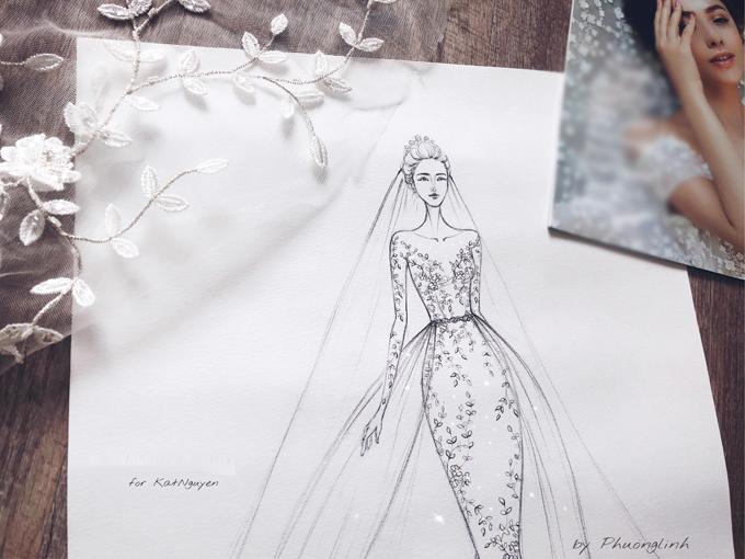 Quyết định tổ chức hôn lễ vào đầu tháng 4 nhưng từ tháng 12 năm ngoái, Kat Nguyễn (du học sinh Việt tại Mỹ) đãnghĩvề chiếc váy cưới trong mơ củamình. Cô lập tức bắt tay vào việc tìm kiếm nhưng điều khiến chính côcũng bất ngờ là bản thân đã phải lòng một thiết kế trong nướcmà không phải bất cứ một nhà mốt nổi tiếng thế giới nào,ngay khi vừa trở về Hà Nội.