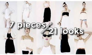 Mix 21 phong cách hiện đại từ 7 món đồ
